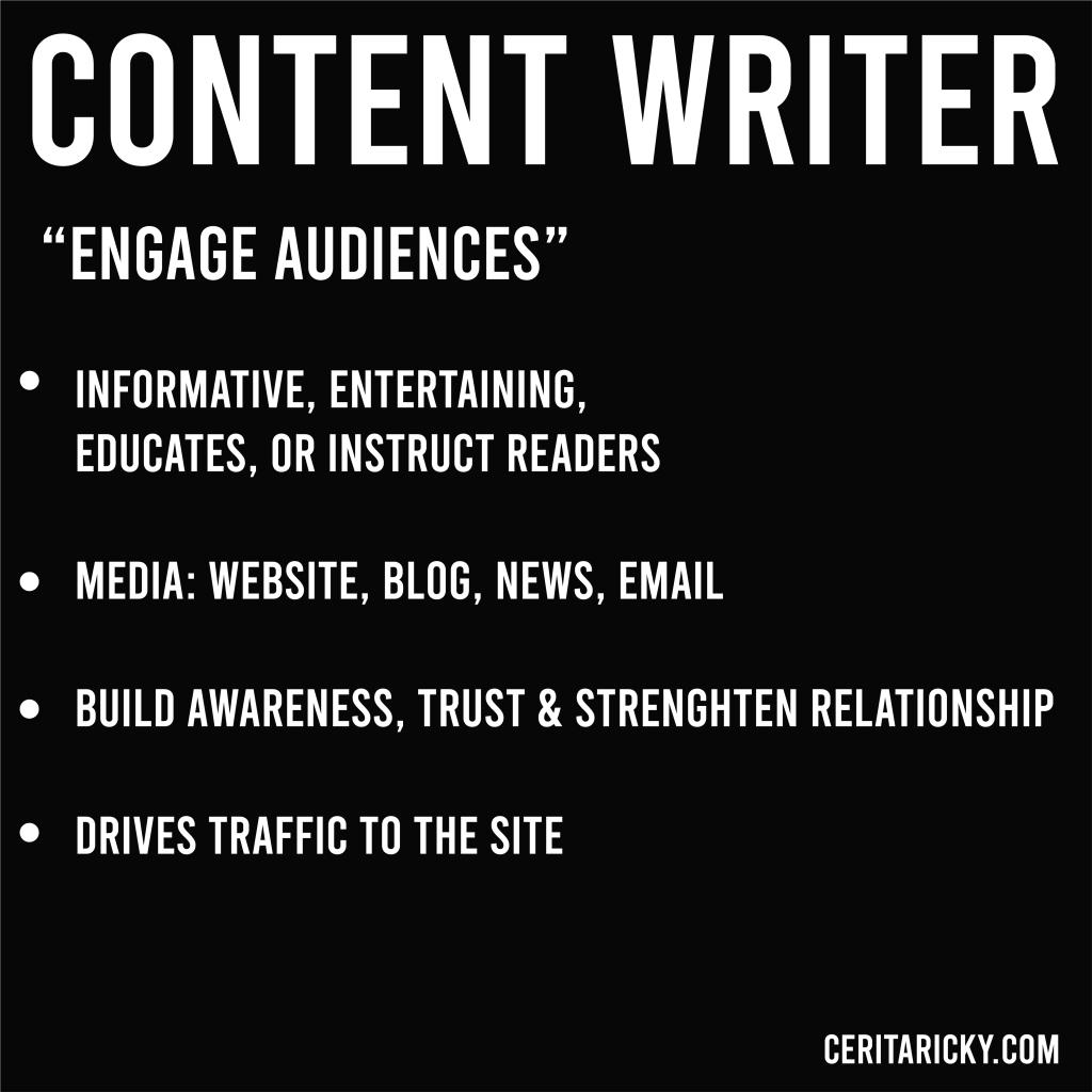 Summarize of content writer.