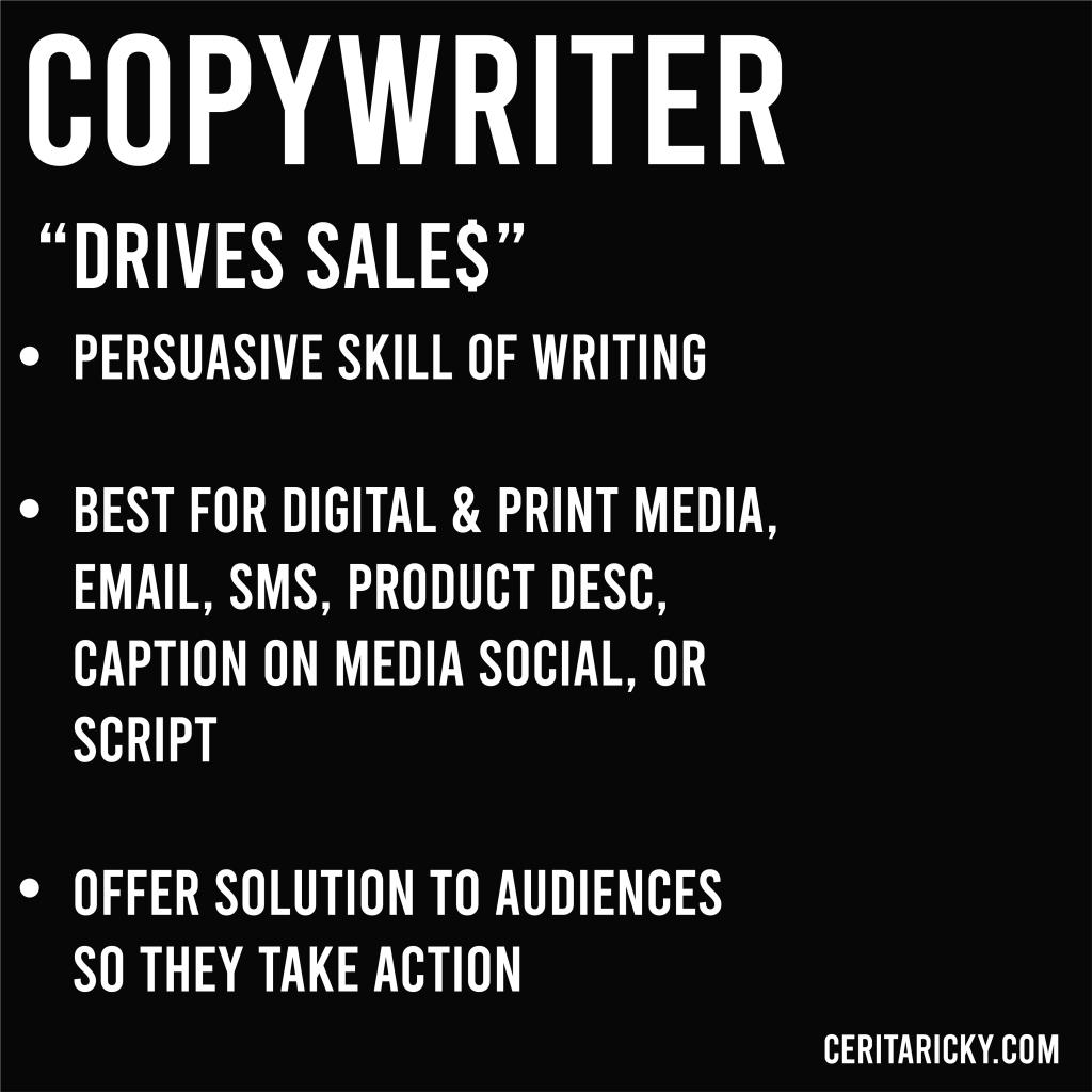 Summarize of copywriter.